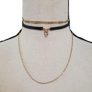 3 Triangles Choker Necklace